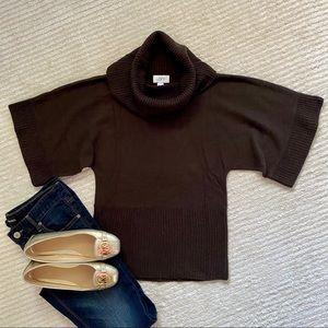 LOFT cowlneck short sleeve sweater